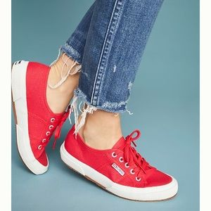 Superga Cherry Red Sneakers Size 8.5